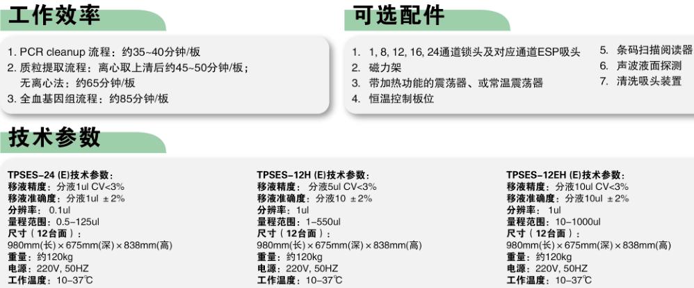 TPS-ES系列磁珠法全自动核酸提取工作站                                                        美国Apricot Designs                                                        TPSES-24/12H/12EH(E)